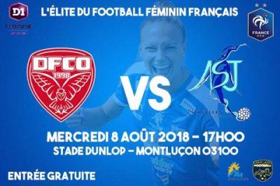 Affiche match Dijon-Soyaux D1 féminines stade dunlop