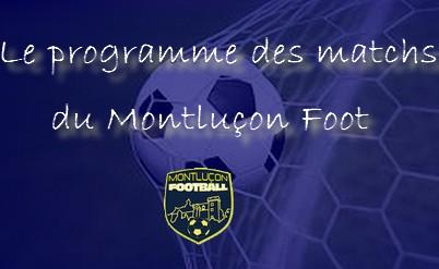 les matchs du Montluçon Foot