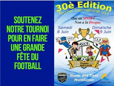 30ème tournoi U11 Montluçon Foot partenaires