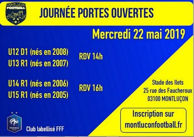 Portes Ouvertes Montluçon Foot U12 à U15