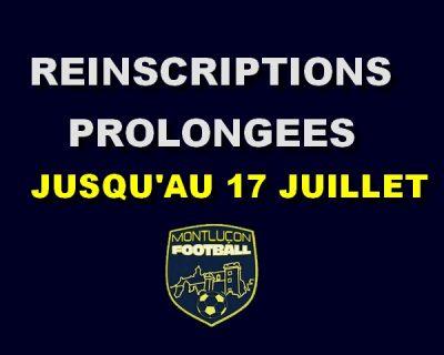 Montluçon Foot réinscriptions 2020-2021