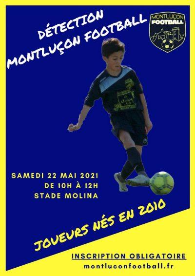 Détection jeunes nés en 2010 Montluçon Football